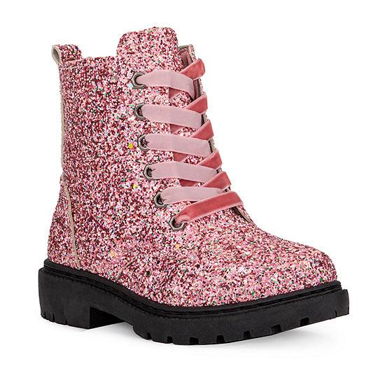 Olivia Miller Little Kid/Big Kid Girls  Flat Heel Combat Boots