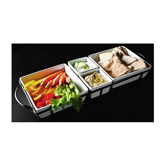 Gibson: 4-pc. Porcelain Serving Tray! .99 (REG .00) with code ALLFORYOU9 at JCPenney!