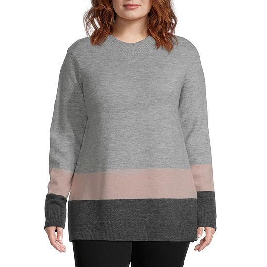 Liz Claiborne Colorblock Sweater - Plus