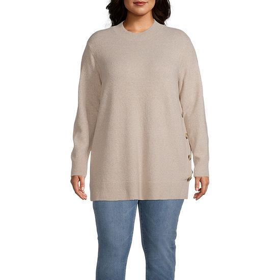 Liz Claiborne Tunic Sweater - Plus