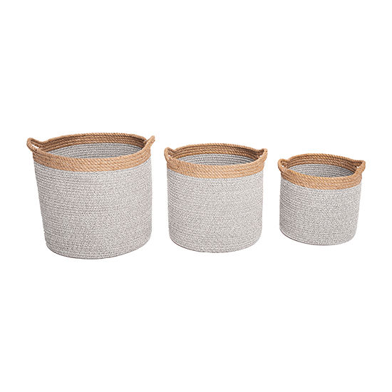 Baum Cotton Rope And Jute Basket