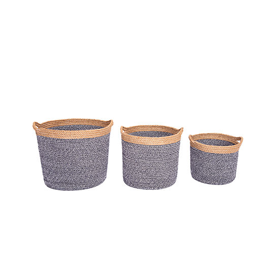Baum Cotton Rope And Jute 3-pc. Basket