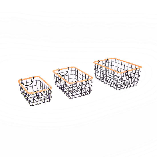 Baum Wire And Jute 3-pc. Basket