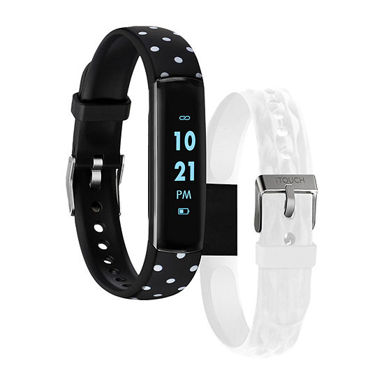 Itouch Slim Womens Multi-Function Silver Tone Smart Watch-7452b-51-G03