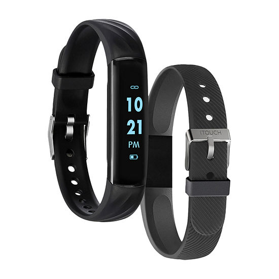 Itouch Slim Mens Multi-Function Black Smart Watch-8082b-51-G04