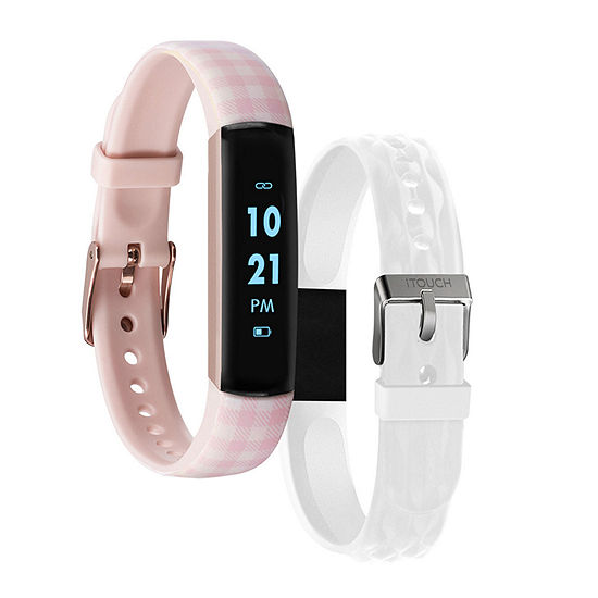 Itouch Slim Womens Multi-Function Pink Smart Watch-7456r-51-Bwh