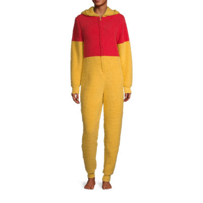 Disney Mjc Womens Plush Winnie The Pooh Long Sleeve One Piece Pajama