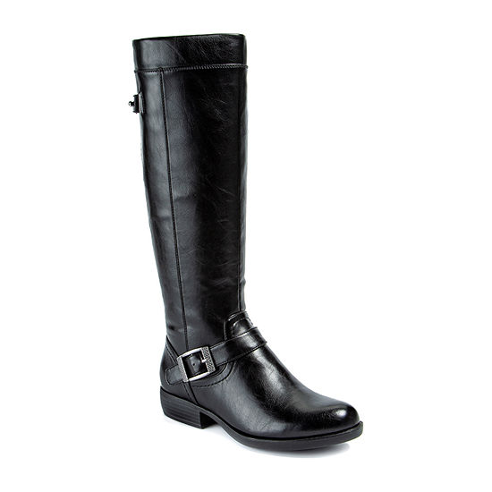 Yuu Womens Jaxette Riding  Stacked Heel Boots