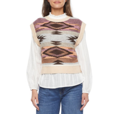 a.n.a Womens Crew Neck Sweater Vest