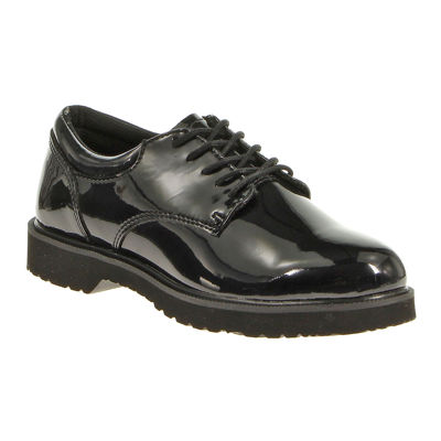 Bates Hi Gloss Womens Patent Leather Duty Oxfords - Wide Width