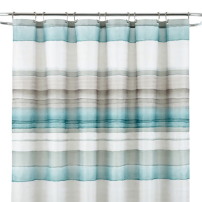 teal striped shower curtain. Studio  Watercolor Stripe Shower Curtain JCPenney