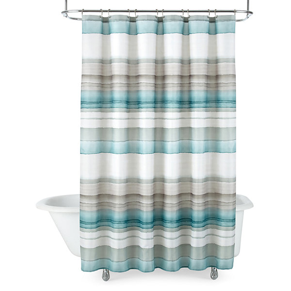 StudioTM Watercolor Stripe Shower Curtain