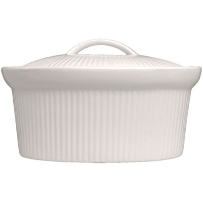 BergHOFF® Bianco 2½-qt. Porcelain Oval Covered Casserole Dish