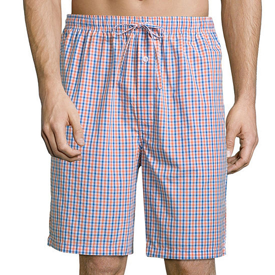 Stafford Mens Poplin Pajama Shorts Big