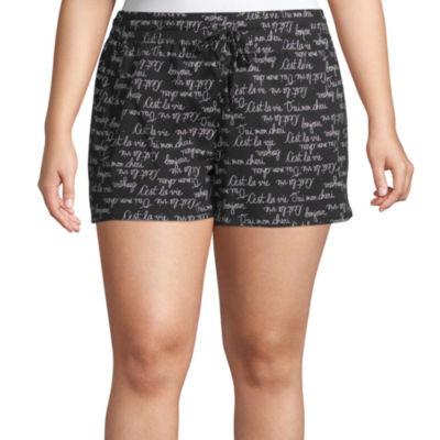 Ambrielle Womens - Plus Jersey Pajama Shorts