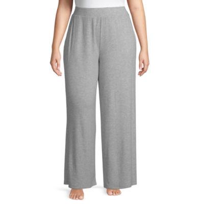 Ambrielle Wide Leg Hacci Pajama Pants-Plus