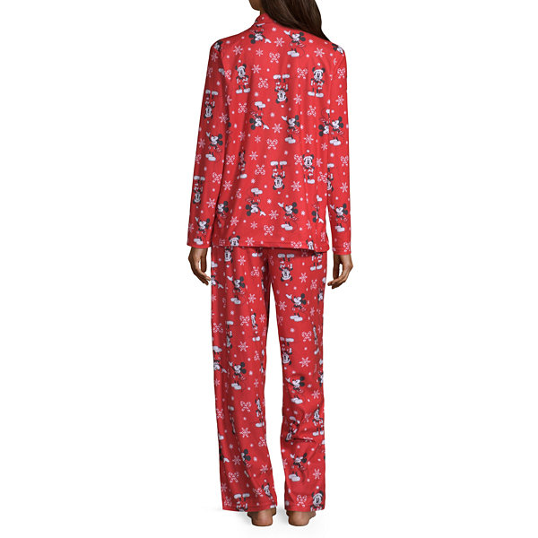 Disney Womens Pant Pajama Set 2-pc. Long Sleeve Family