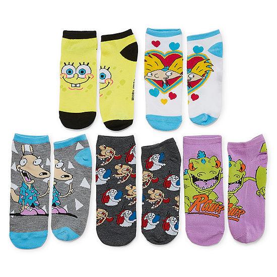 5 Pair No Show Socks - Womens