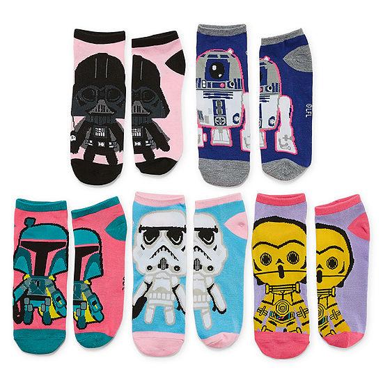 5 Pair No Show Socks Womens