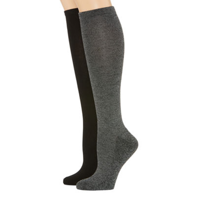 Mixit 2 Pk Rayon From Bamboo Pillow Sole 2 Pair Knee High Socks - Womens