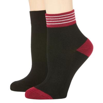 Mixit 2 Pk Rayon From Bamboo Quarter Socks - Womens