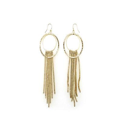 Bold Elements Brass 4 1/4 Inch Hoop Earrings
