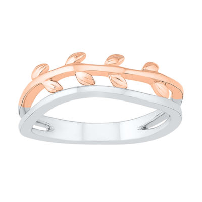 Womens 6.5mm 10K Two Tone Gold Band