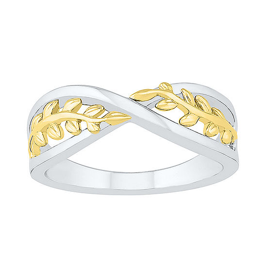 Womens 6.5mm 10K Two Tone Gold Round Band