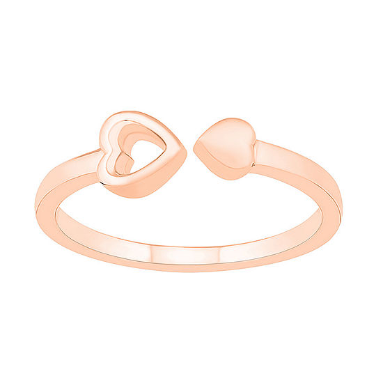 4.5MM 10K Rose Gold Heart Band