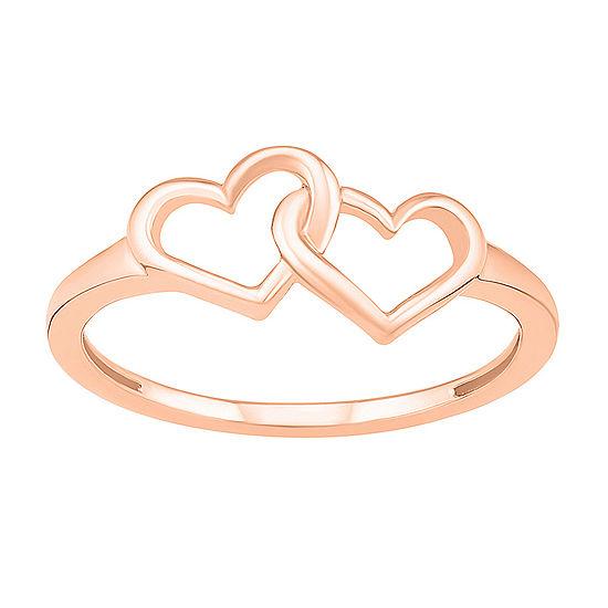 7.5MM 10K Rose Gold Heart Band