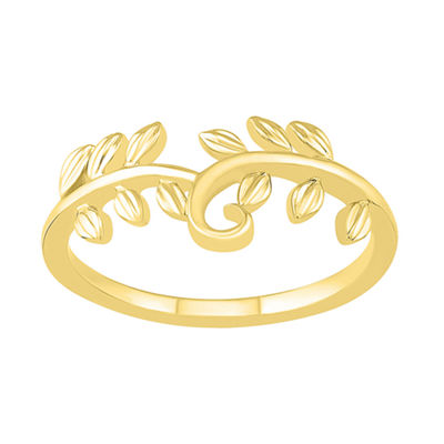 Womens 10mm 10K Gold Round Band