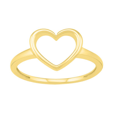 Womens 9mm 10K Gold Heart Band