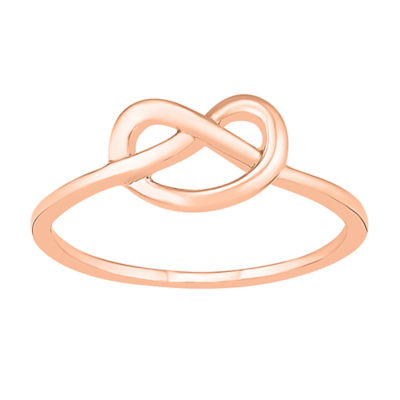 Womens 7mm 10K Rose Gold Knot Band