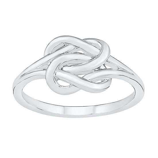 8.5MM 10K White Gold Knot Band