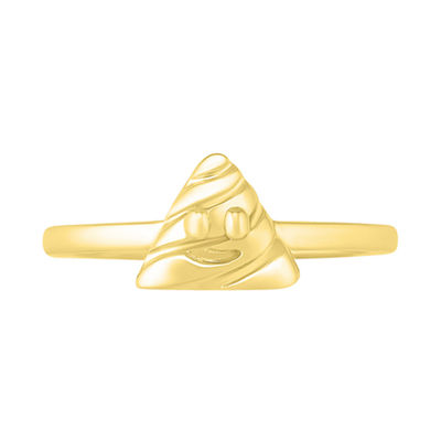 Womens 7.5mm 10K Gold Round Band