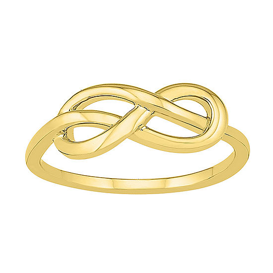 Womens 6.5mm 10K Gold Infinity Band
