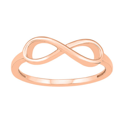 Womens 5.5mm 10K Rose Gold Infinity Band