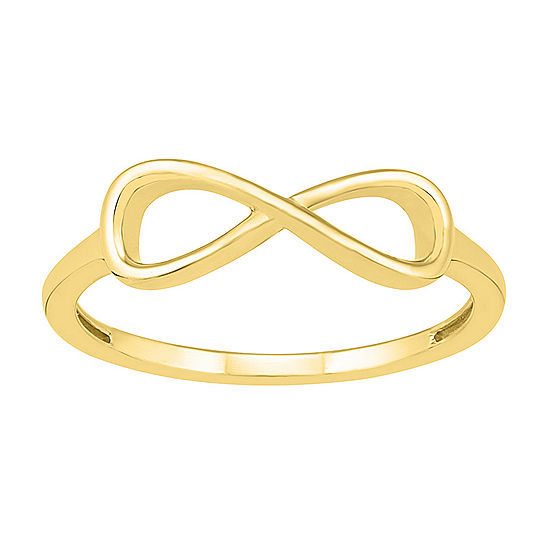 Womens 5mm 10K Gold Infinity Band