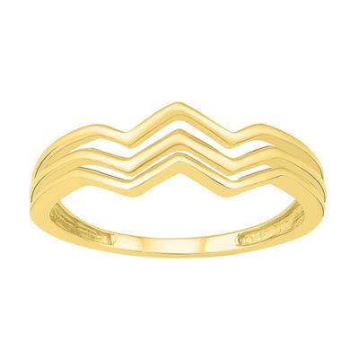 Womens 7mm 10K Gold Round Band