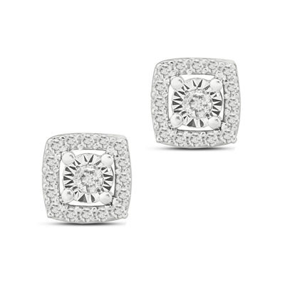 1/10 CT. T.W. White Diamond Sterling Silver 5.4mm Stud Earrings