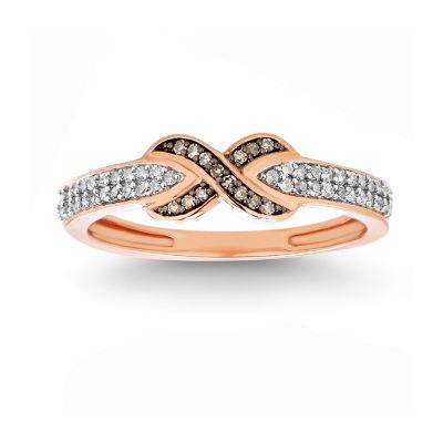 1/5 CT. T.W. White Diamond 10K Gold Cocktail Ring