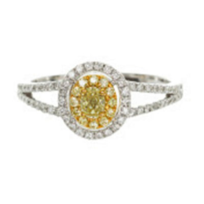 Womens 3/8 CT. T.W. Genuine Yellow Diamond 14K Gold Engagement Ring