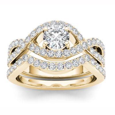 Womens 1 1/2 CT. T.W. White Diamond 14K Gold