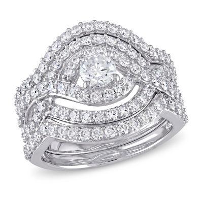 Womens 1 7/8 CT. T.W. Genuine White Diamond 14K Gold Bridal Set