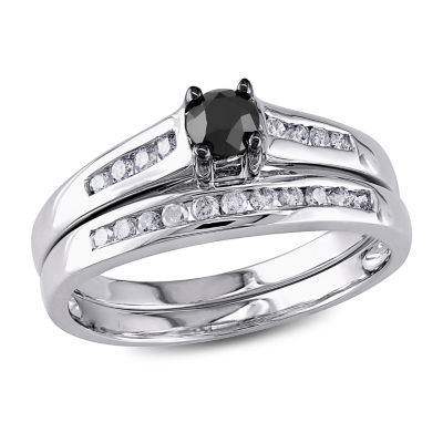 Womens 1/2 CT. T.W. Black Diamond 10K Gold Bridal Set