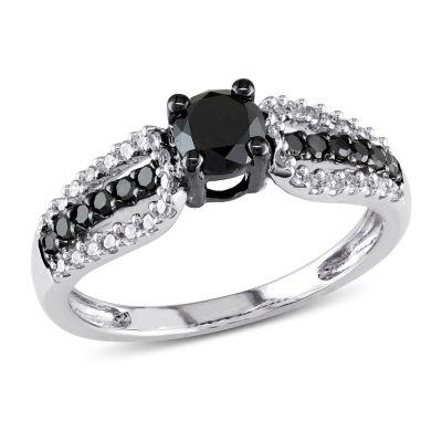 Womens 3/4 CT. T.W. Black Diamond 10K Gold Engagement Ring