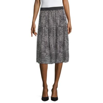 Worthington Pleated Midi Skirt
