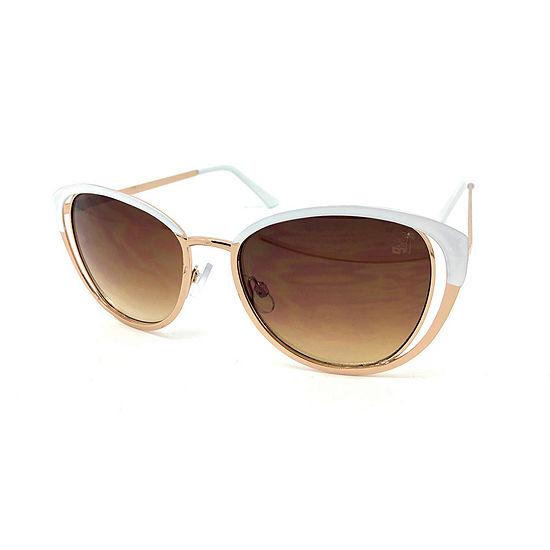 Fantas Eyes Womens Full Frame Cat Eye UV Protection Sunglasses