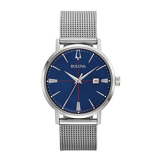 Bulova Aerojet Mens Silver Tone Stainless Steel Bracelet Watch-96b289