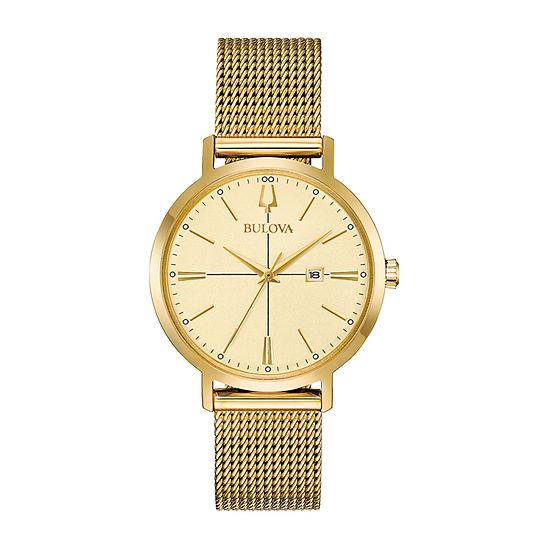 Bulova Womens Gold Tone Bracelet Watch-97m115